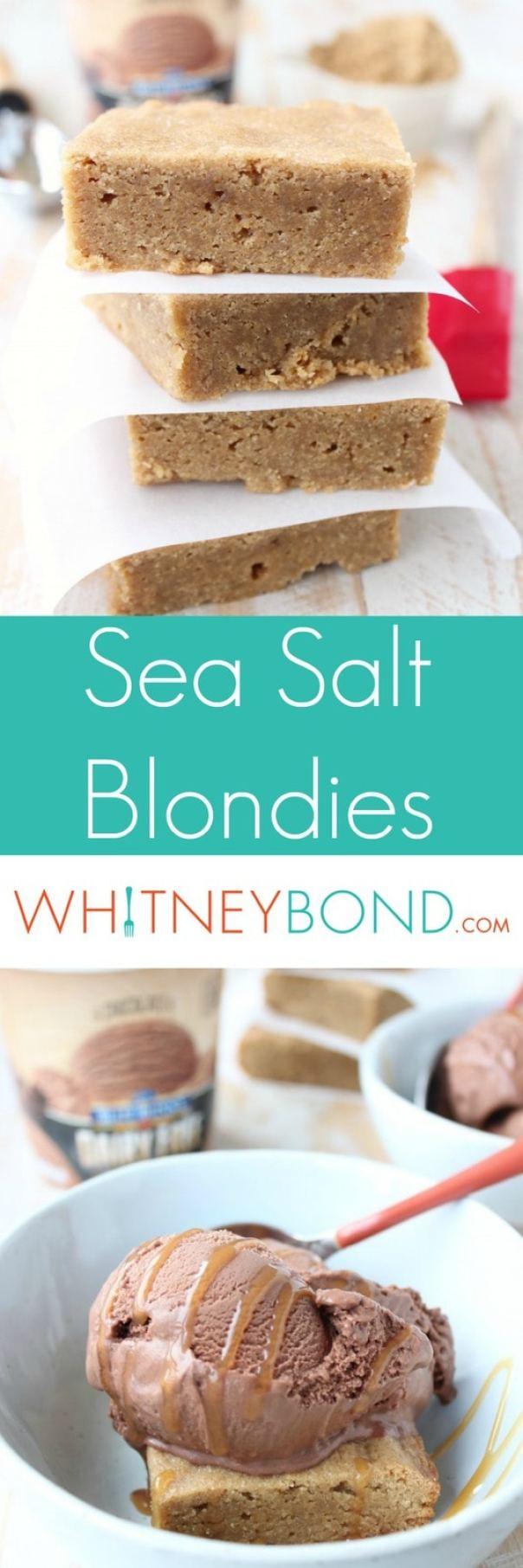 Sea Salt Blondies Recipe