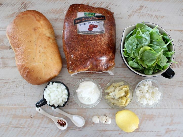 Spinach Artichoke Turkey Panini Ingredients