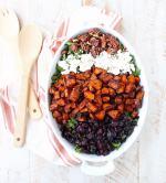Chili Roasted Sweet Potato & Cranberry Salad