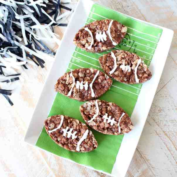 Nutella Rice Krispie Treat Footballs