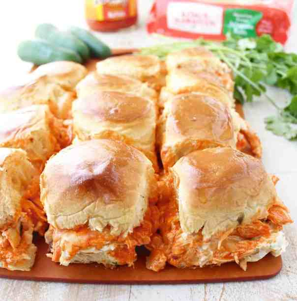 Jalapeño Buffalo Chicken Dip Sliders