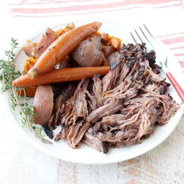 Slow Cooker Pot Roast With Garlic Herbs Whitneybond Com