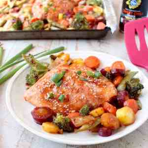 Sheet Pan Salmon with Thai Sweet Chili Sauce