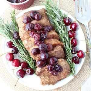 Pork Chops with Cherry Balsamic Sauce