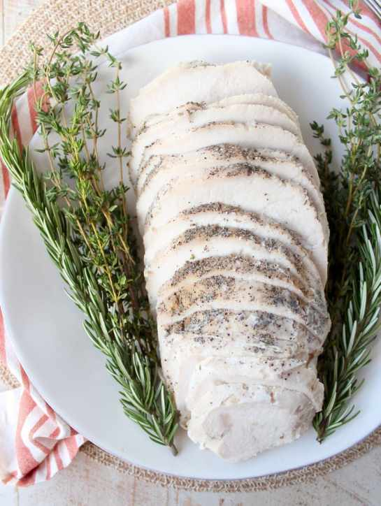 This Sous Vide Turkey Breast recipe is absolutely the easiest way to make the juiciest, most flavorful turkey breast ever!