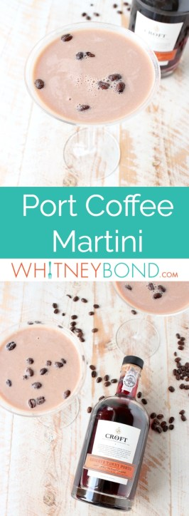 This easy coffee martini recipe combines port wine, cold brew coffee & Irish cream for a simple 3 ingredient drink, perfect as an after dinner cocktail!