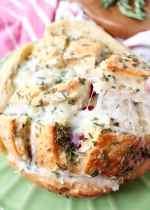 Cranberry Turkey Mozzarella Pull Apart Bread