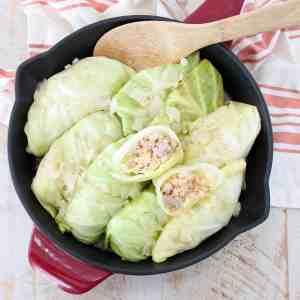 Pork & Sauerkraut Cabbage Rolls