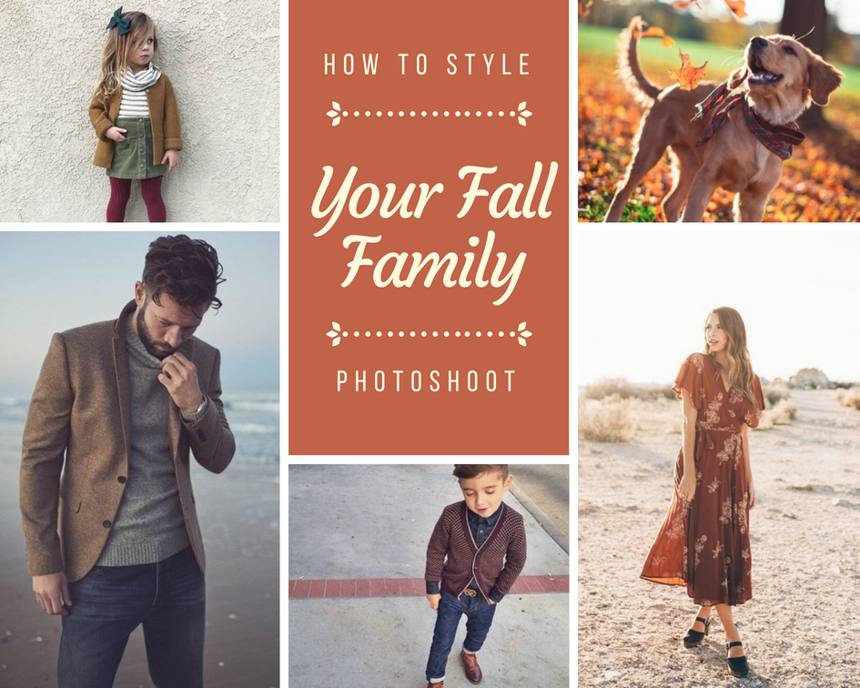 how to dress for your autumn photoshoot family