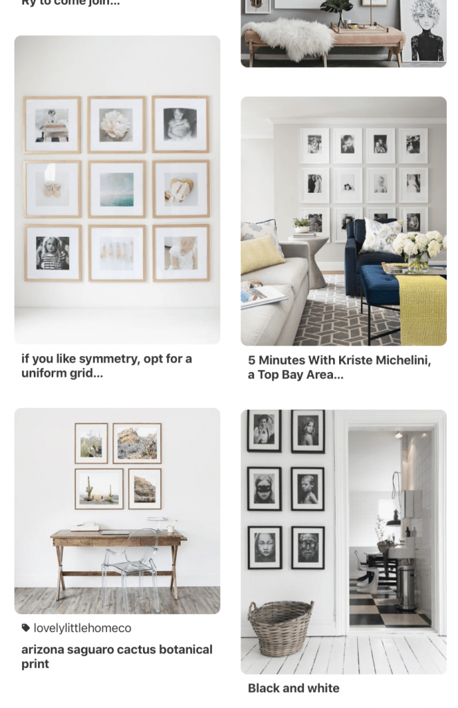 how to style a photography print family photo grid interior design