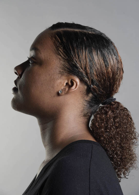 """Natural Hair Project with Tatyana Presley. """"I'm happy with who I am, but I feel like I'm still growing. I have a good relationship with my hair but when I was younger I thought it was too thick, too coarse, but I've grown to love my hair,"""" Tatyana Presley says. """"It's not one way or the other, it's pretty different, unique. There's no such thing as 'good hair' who is someone to say one hair type is better than another. To me all hair is beautiful hair despite if it's short, long, curly, straight whatever. Hair is hair; It shouldn't be as controversial of a topic that it is."""""""
