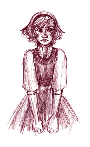 Sketch of Alice from Hearts of Roese