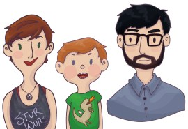 Caricatures of sister's family