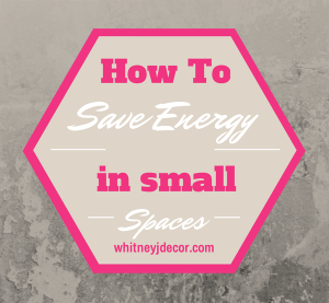 how to save energy in apartments