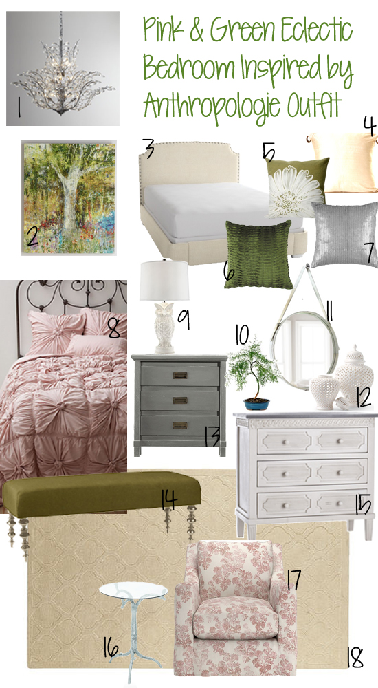 Bedroom Decor Board Inspired by Anthropologie Outfit ...