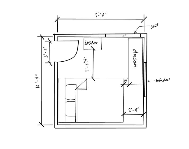 floor plan for small bedroom