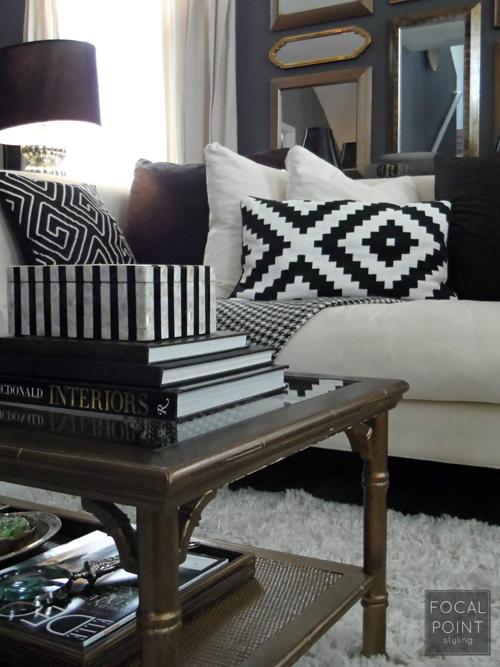 BLACK & WHITE LIVING ROOM LYNDA QUINTERO-DAVIDS FOCAL POINT STYLING  (5) 1000