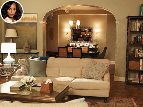 On the set of Scandal: Olivia Pope's apartment