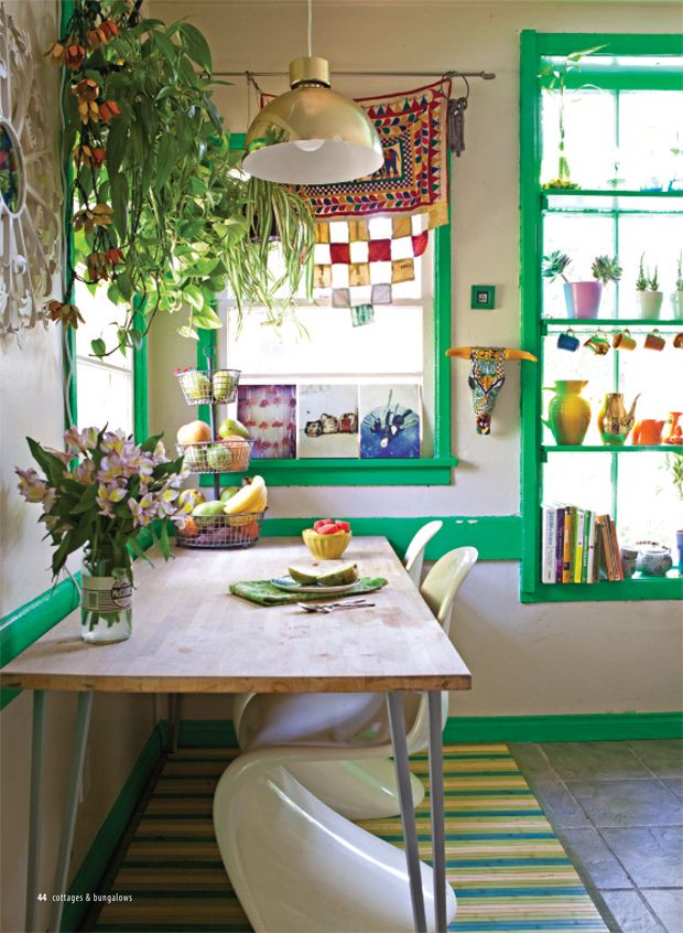 kitchens with ivy plants that inspired my new kitchen decor. via whitneyjdecor.com