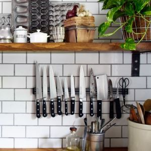 wall shelves in the kitchen