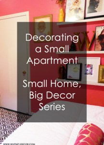 decorating a small apartment series