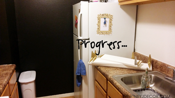 kitchen progress photo