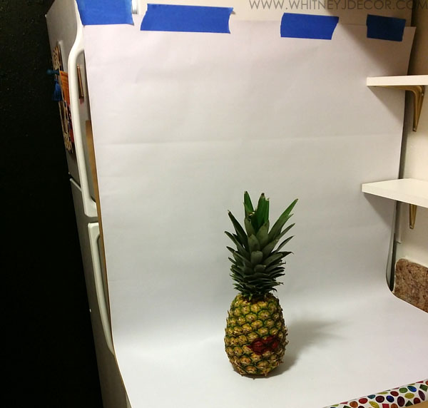 diy pineapple photography