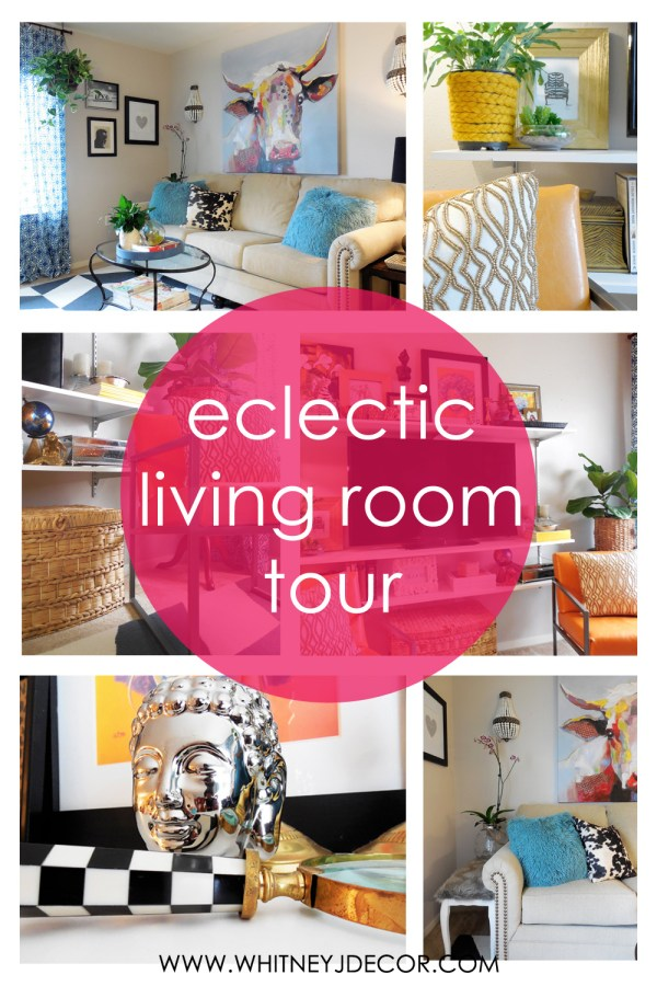 eclectic living room tour
