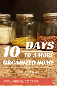 10 days to an organized home challenge - starts July 1st
