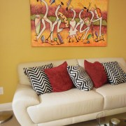 modern yellow living room interior design