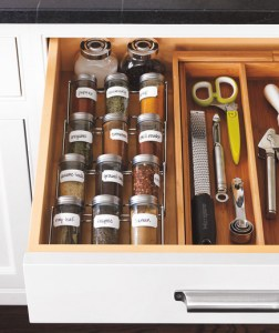 organized spice drawer real simple
