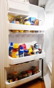 organized refrigerator door