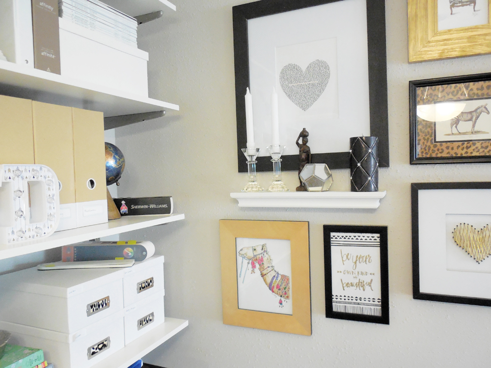 small home office tour via Whitney J Decor