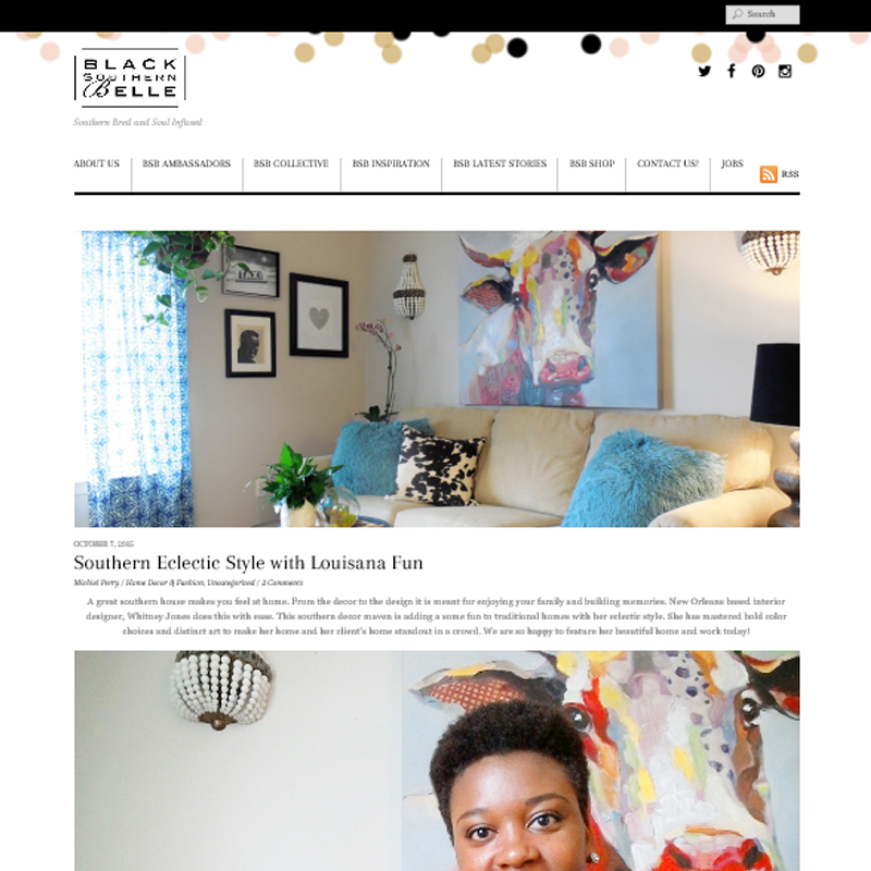 screenshot of feature on Black Southern Belle