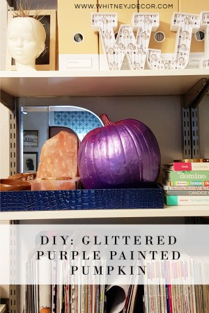 PIN ME: DIY glittered purple pumpkin