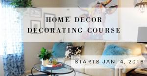 home decor decorating course