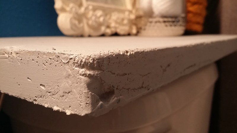diy concrete bathroom shelf