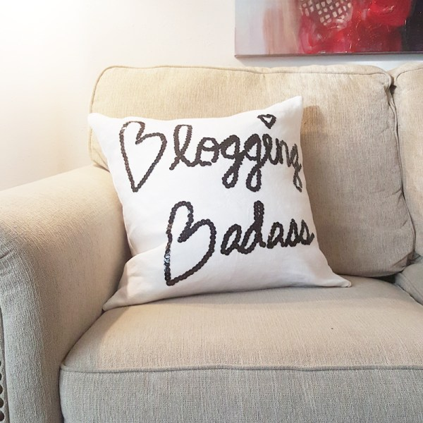 blogging badass pillow