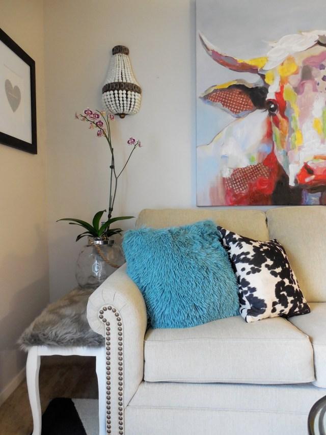 eclectic, living room