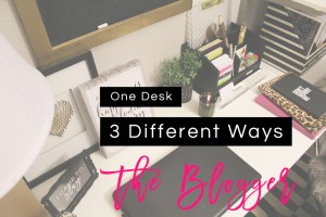 blogger desk