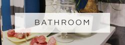 eclectic bathroom | bold color | blue bathroom | home decor | eclectic decor | apartment decor