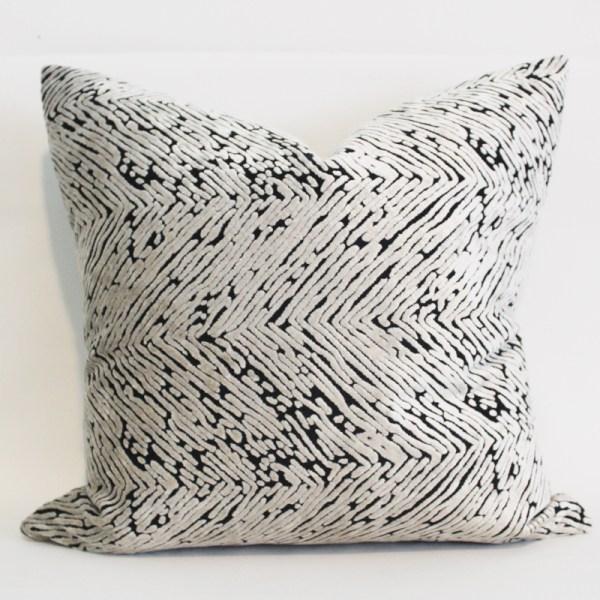 cream herringbone velvet pillow cover