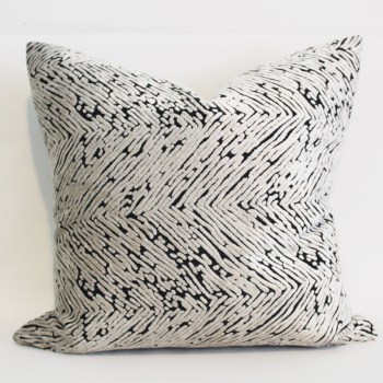 cream herringbone velvet pillow cover