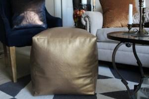 faux leather diy floor pouf supplies | faux leather floor pouf | floor pouf | eclectic home decor