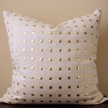 gold stud pillow | gold studs pillow
