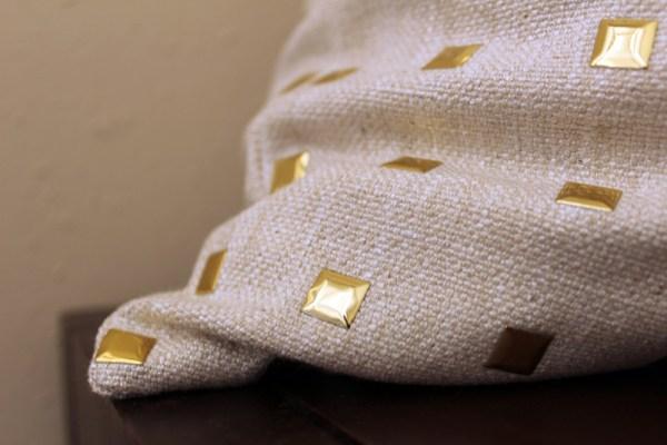 gold stud pillow | gold studs pillow