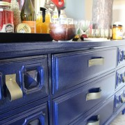 diy faux leather dresser handles