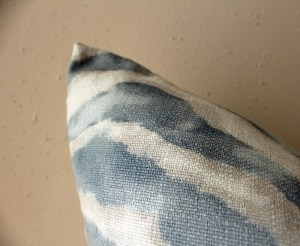 blue watercolor zebra print pillow   watercolor zebra print pillow   eclectic decor   blue living room   blue bedroom