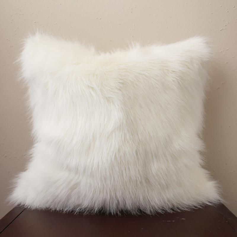 Polar White Faux Fur Pillow Cover