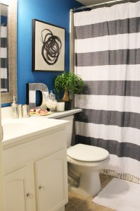 small blue bathroom decor | small bathroom | blue bathroom